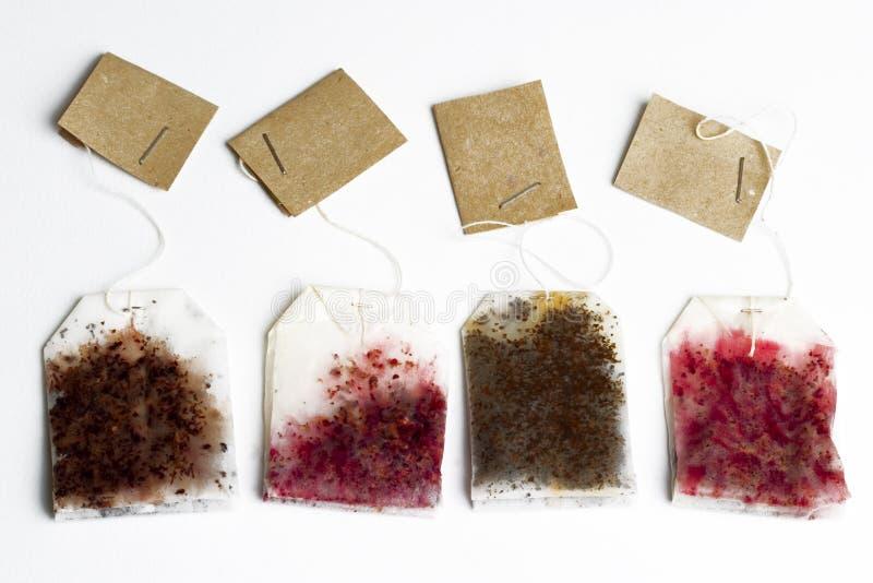 bags tea royaltyfri fotografi