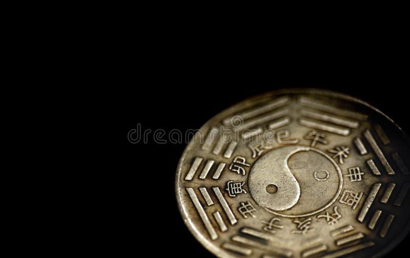 bagua中国硬币六角星形 免版税库存图片