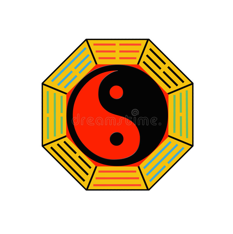 Bagua illustration stock
