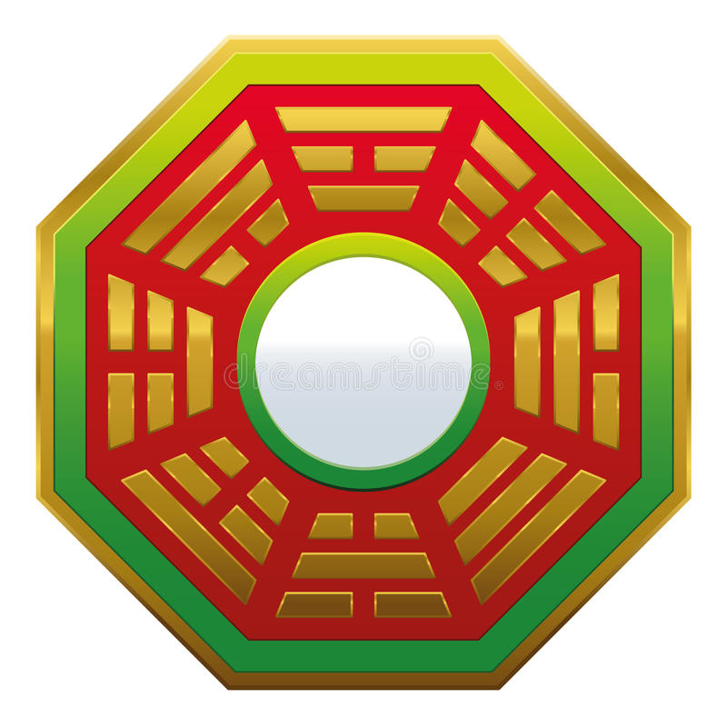 Bagua mirror feng shui stock vector illustration of energy 62069260 - Specchio feng shui ...