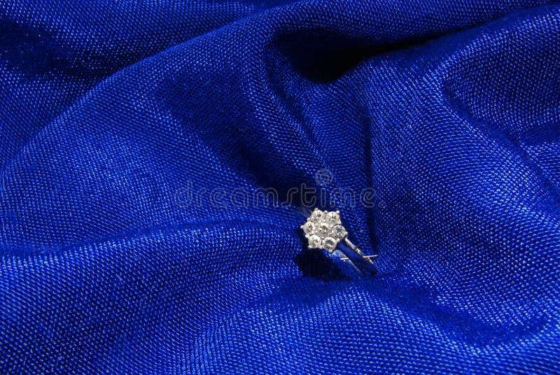 Bague de fiançailles 3 de diamant photo libre de droits