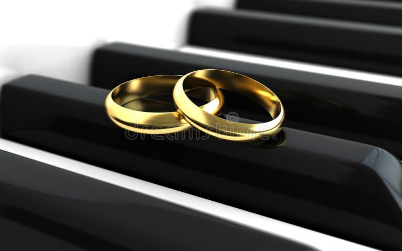 Bagues de fiançailles illustration libre de droits