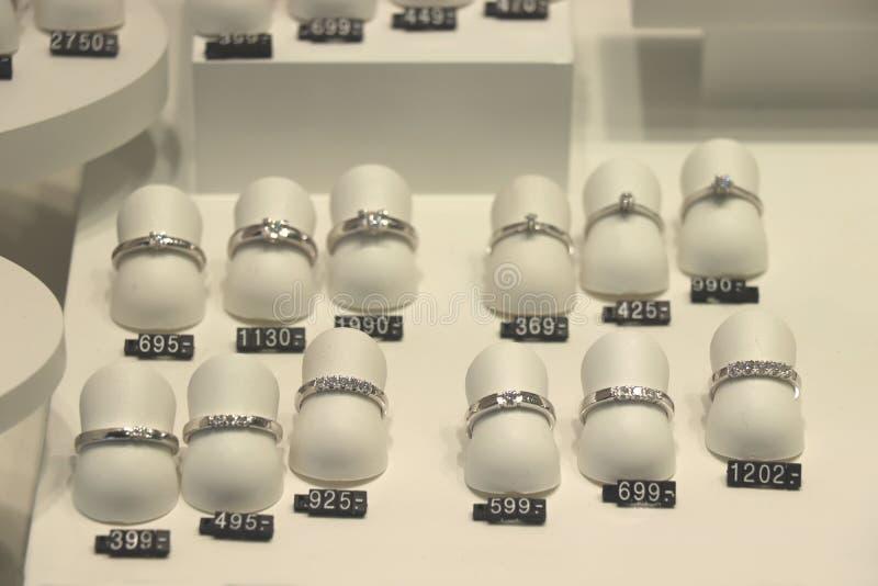 Bagues de fiançailles de diamant image libre de droits