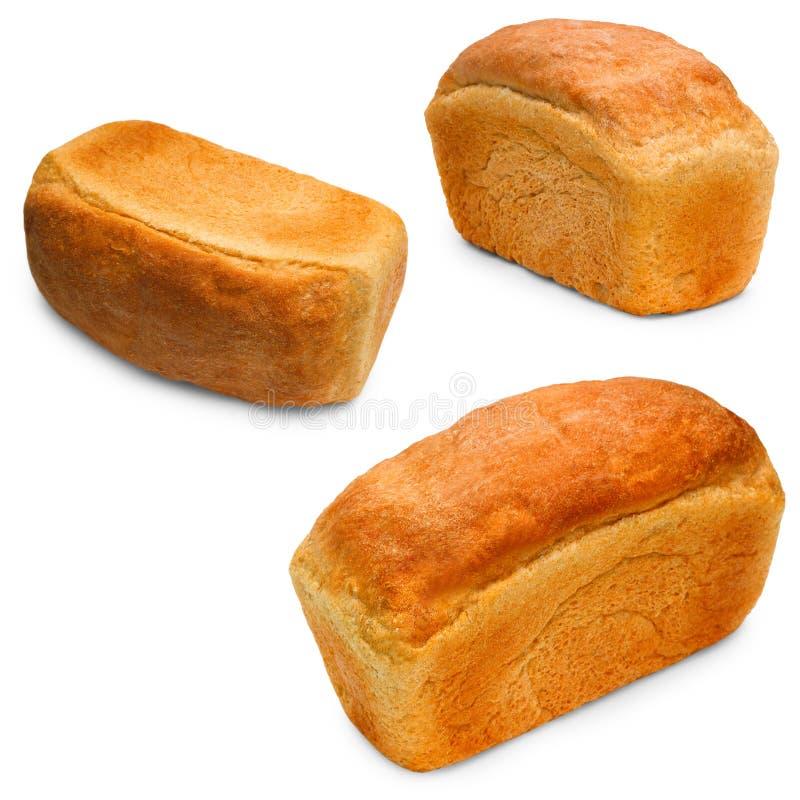 Baguett determinado aislado pan de la panadería del pan de la comida fotografía de archivo libre de regalías