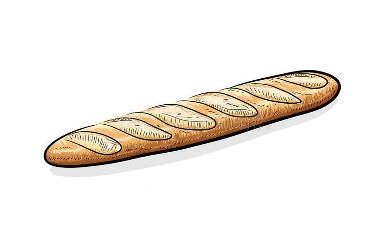 baguette royalty ilustracja