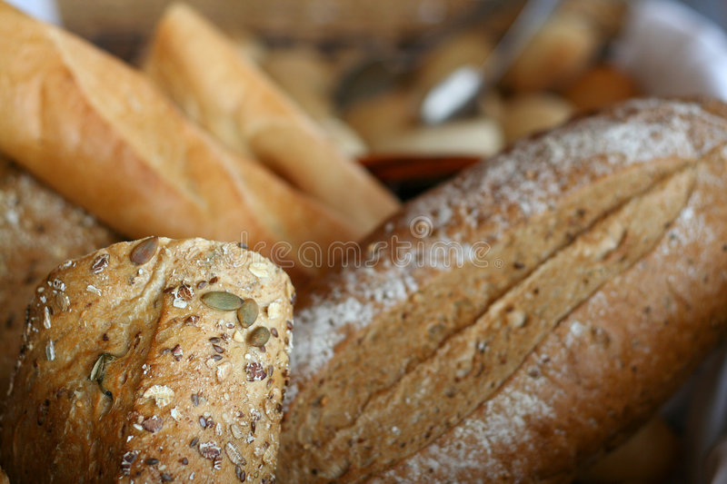 Baguette. Also known as a french stick or french loaf stock photos