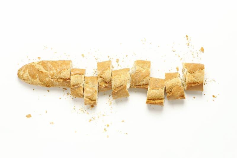 Baguette affettato immagine stock