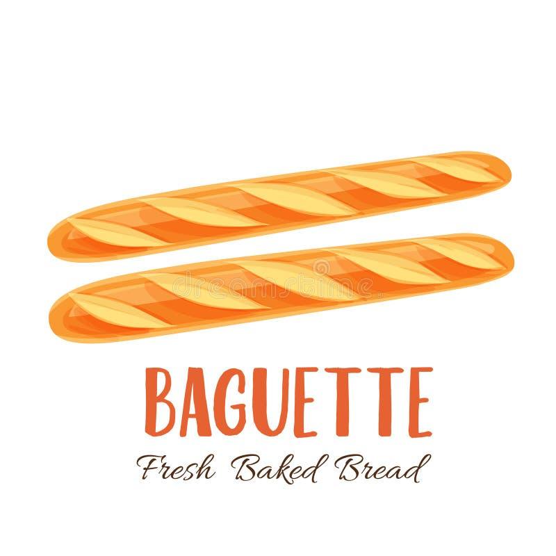 Baguette chleba ikona ilustracja wektor
