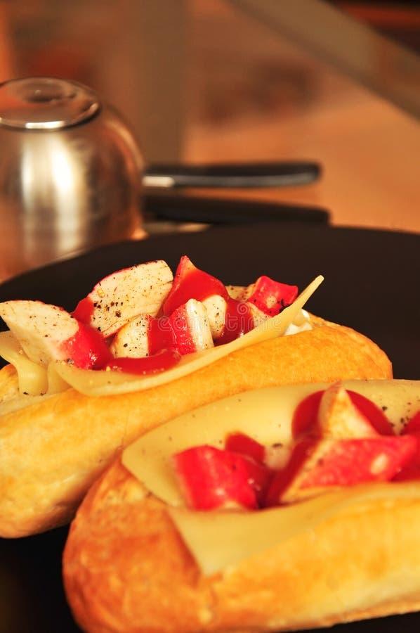 Download Baguette Com Varas Do Caranguejo Imagem de Stock - Imagem de coma, pão: 29844277