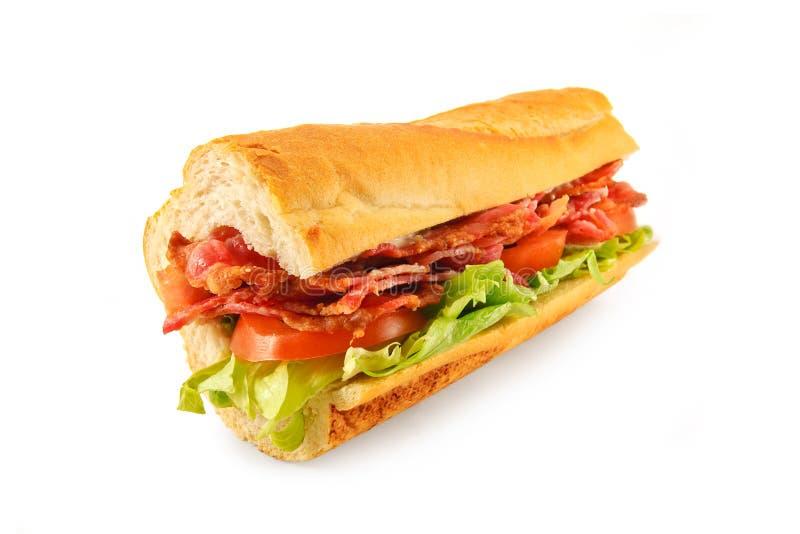 Baguette de sandwich à BLT photos libres de droits