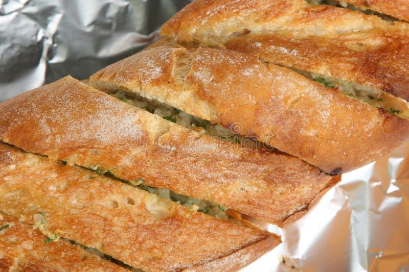Baguette do pão do alho & da erva imagem de stock royalty free
