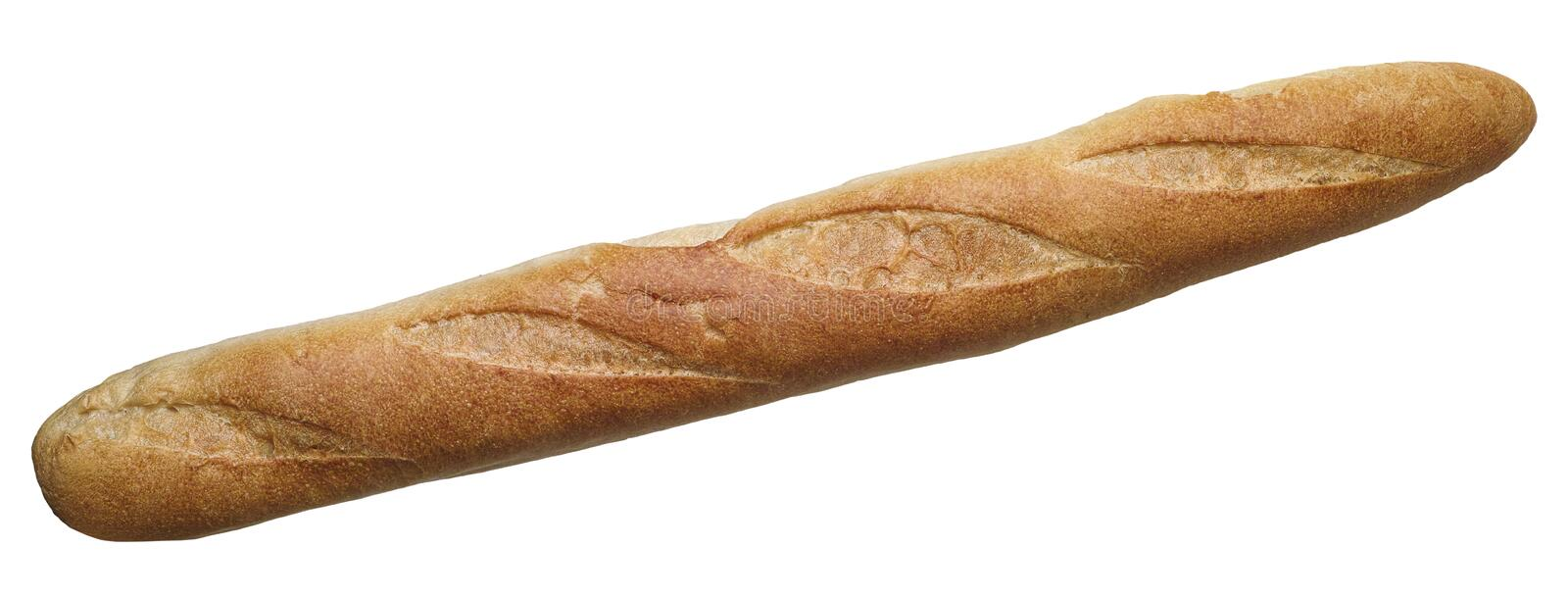Baguette. Isolate on white background royalty free stock photography