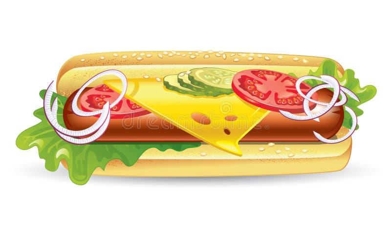 baguette kanapka ilustracji