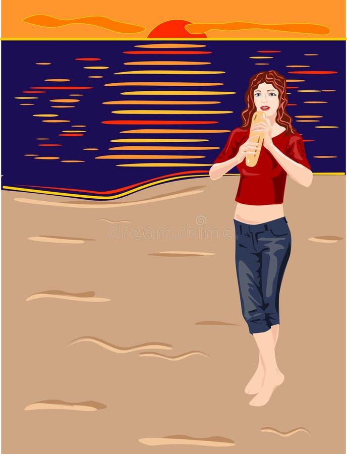 Download Baguette-lover#4 stock vector. Illustration of appetite - 8128974