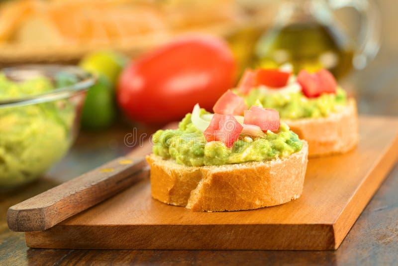Baguette met Avocado en Tomaat royalty-vrije stock fotografie