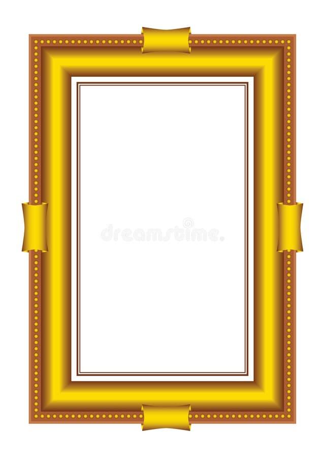 baguette obramia złotego wektor royalty ilustracja