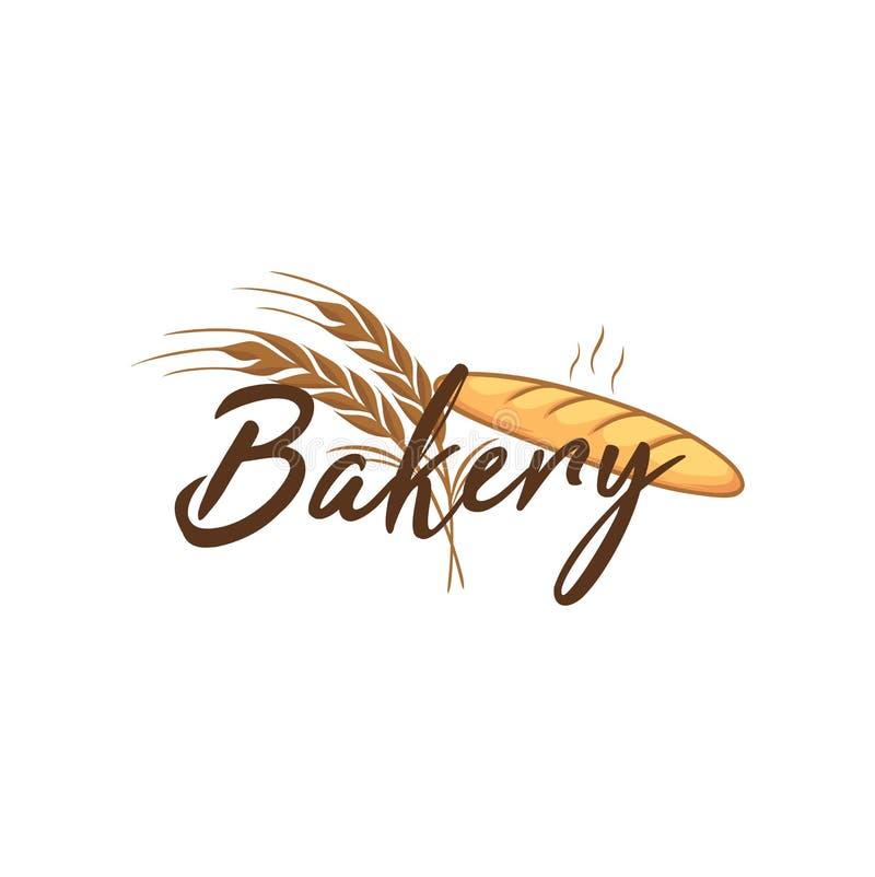 Baguette piekarnia i deseru logo, znak, ikona, emblemat, Płaski Wektorowy projekt ilustracji