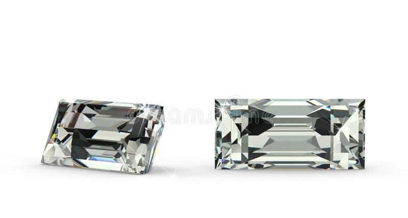 Baguette Rżnięty diament ilustracji