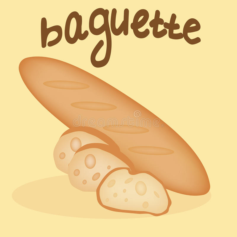 Baguette recentemente cozido ilustração royalty free