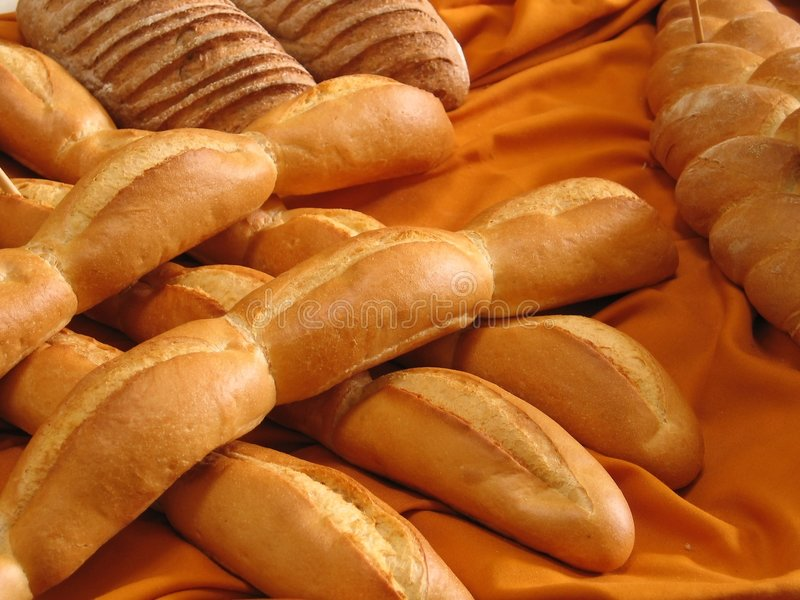Baguettes image stock