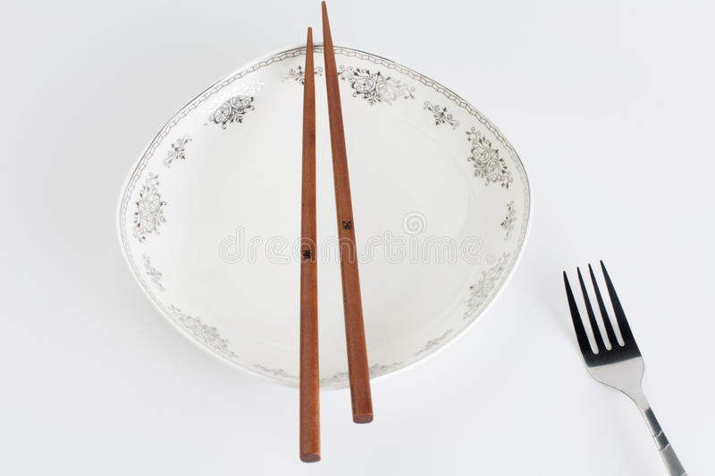 Baguettes et fourchette photos libres de droits