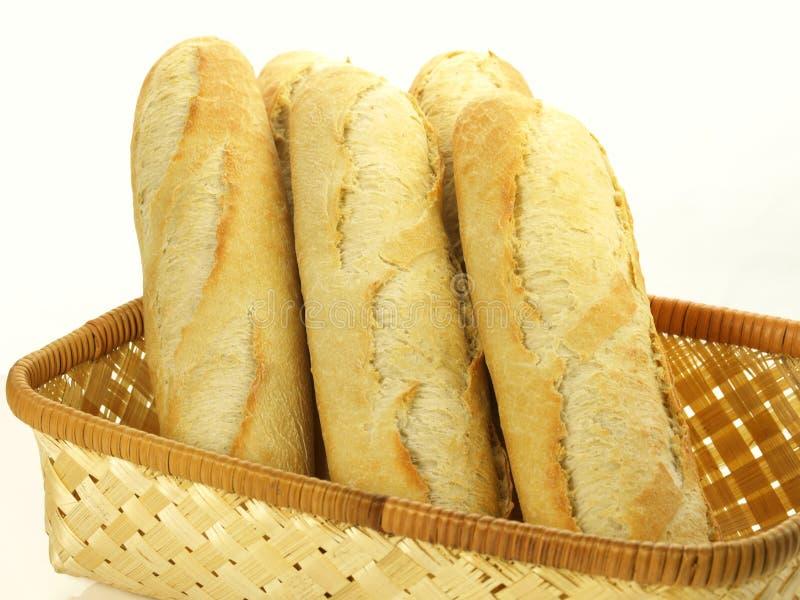 Baguettes para el desayuno, aislados imagen de archivo
