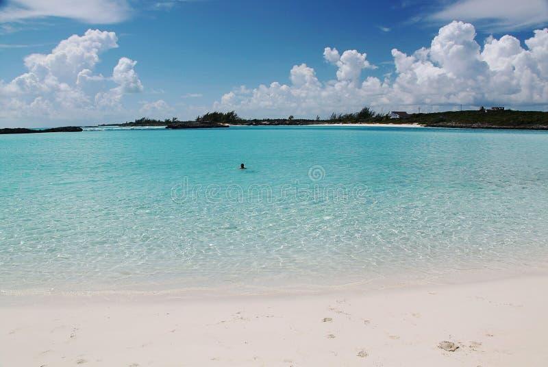 baguio Вода бирюзы Атлантического океана и голубого неба атмосфер стоковое фото