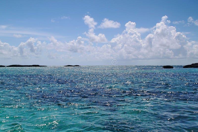 baguio Открытое море Атлантического океана и голубого неба атмосфер стоковое изображение rf