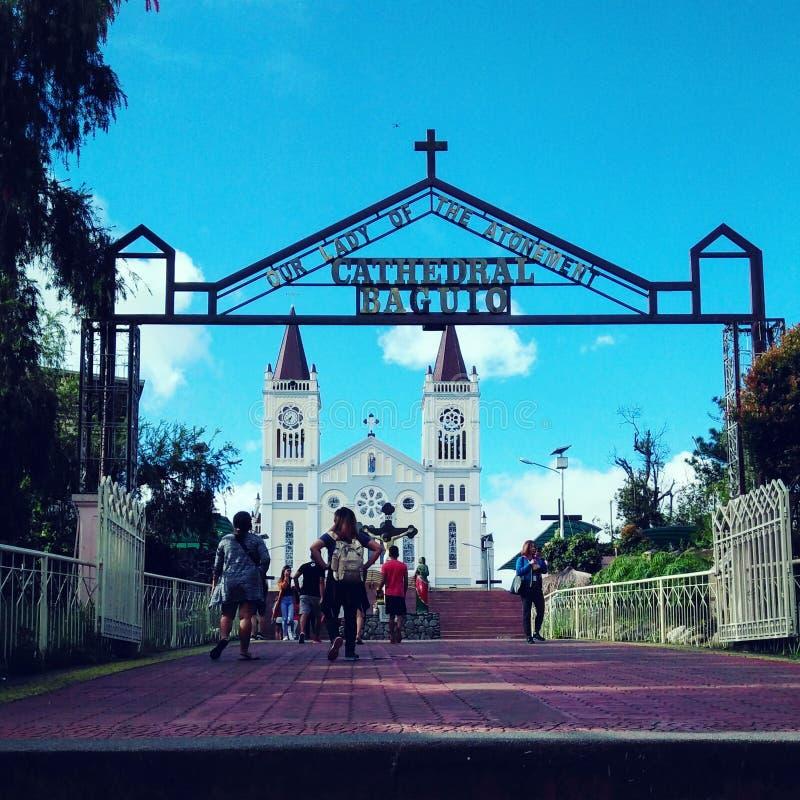 Baguio domkyrka royaltyfria bilder