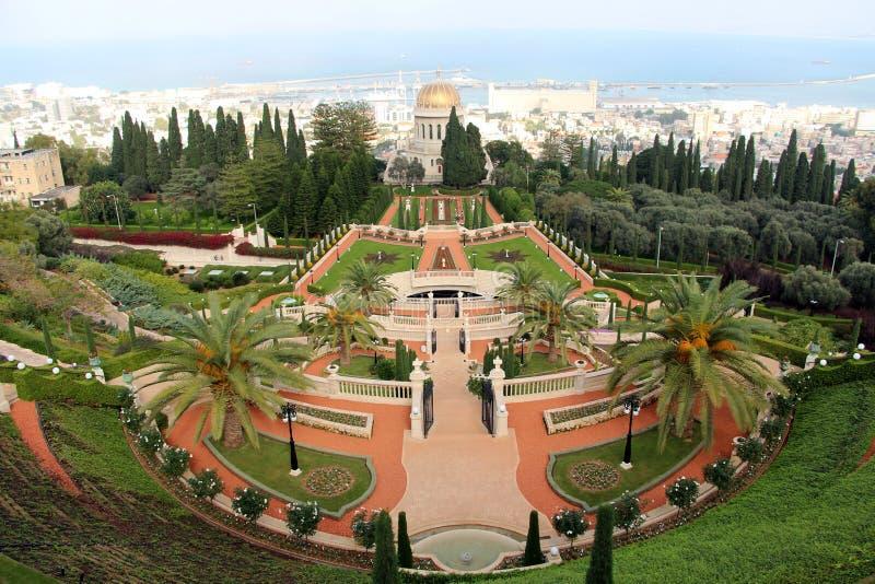Bahà ¡ 'à Uprawia ogródek Haifa obraz stock
