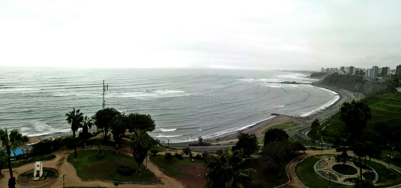 BahÃa de Lima - Lima Bay imagem de stock