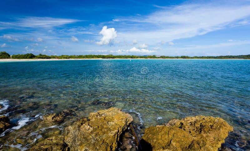 Bahía Circular Cerca De Cabo Rojo Imagen de archivo libre de regalías
