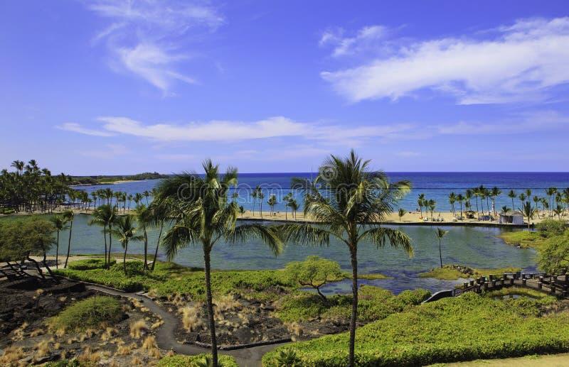 Bahía de Anae'hoomalu en Hawaii foto de archivo libre de regalías
