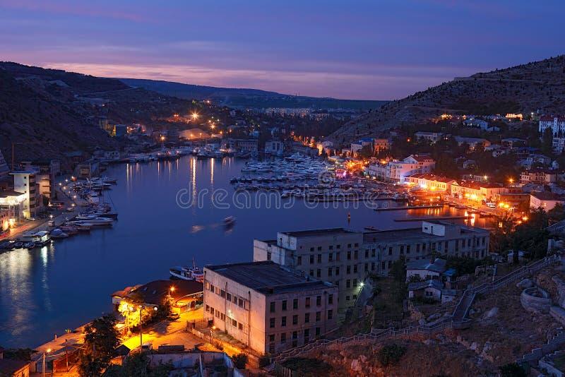 Bahía de Balaclava.Crimea. fotos de archivo