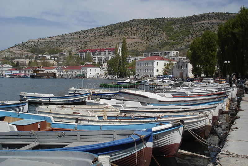 Bahía de Balaklava imagen de archivo libre de regalías