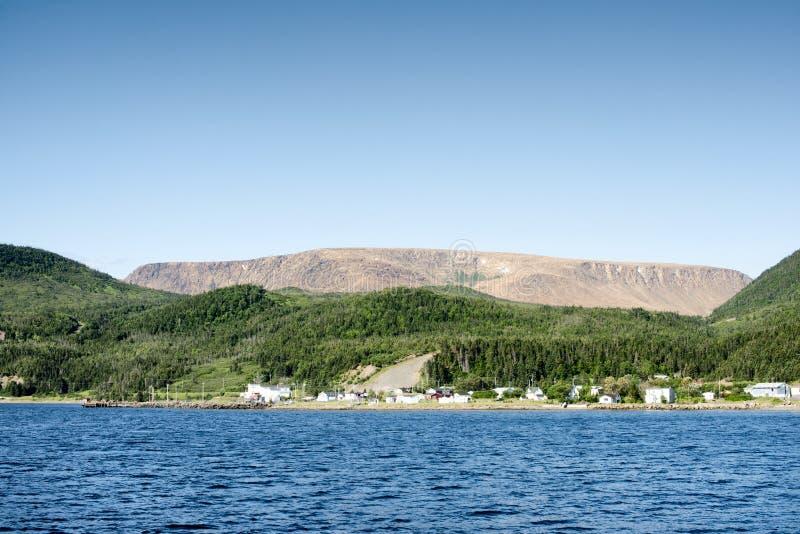 Bahía de Bonne, Gros Morne National Park, Terranova y Labrador foto de archivo