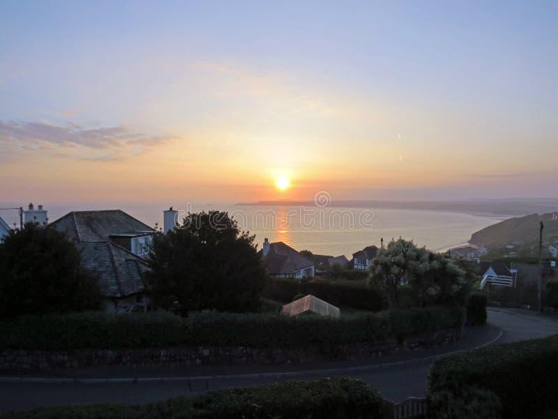 Bahía de Carbis de la salida del sol imágenes de archivo libres de regalías