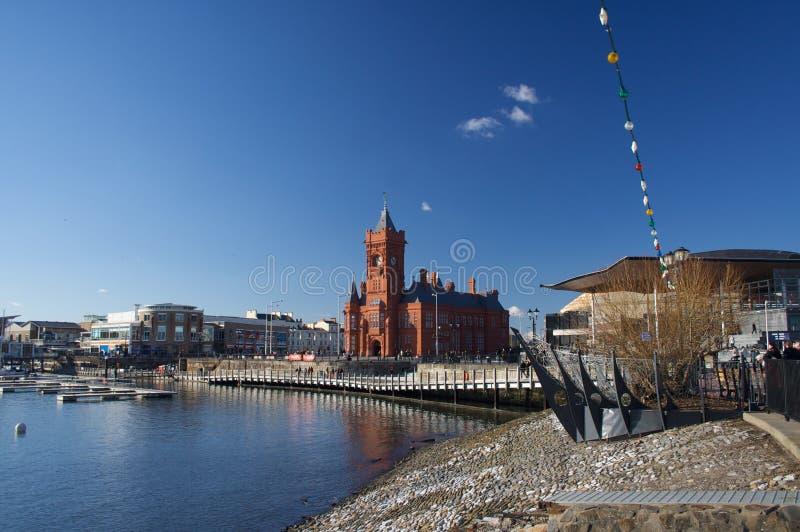 Bahía de Cardiff imagen de archivo