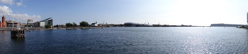 Bahía de Cardiff, País de Gales, Reino Unido fotografía de archivo libre de regalías