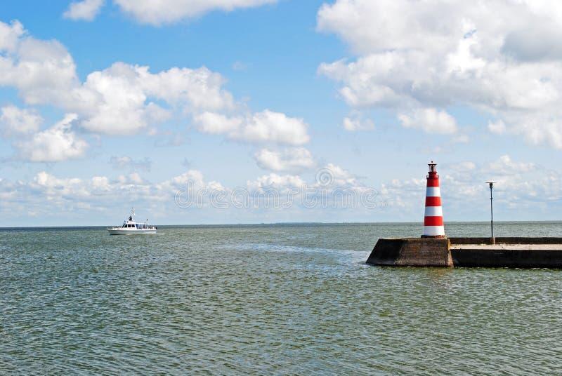 Bahía de Curonian en Nida fotografía de archivo libre de regalías