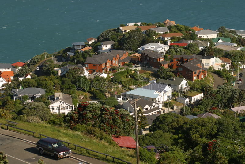 Bahía de Evans. Vecindad de Wellington fotografía de archivo libre de regalías