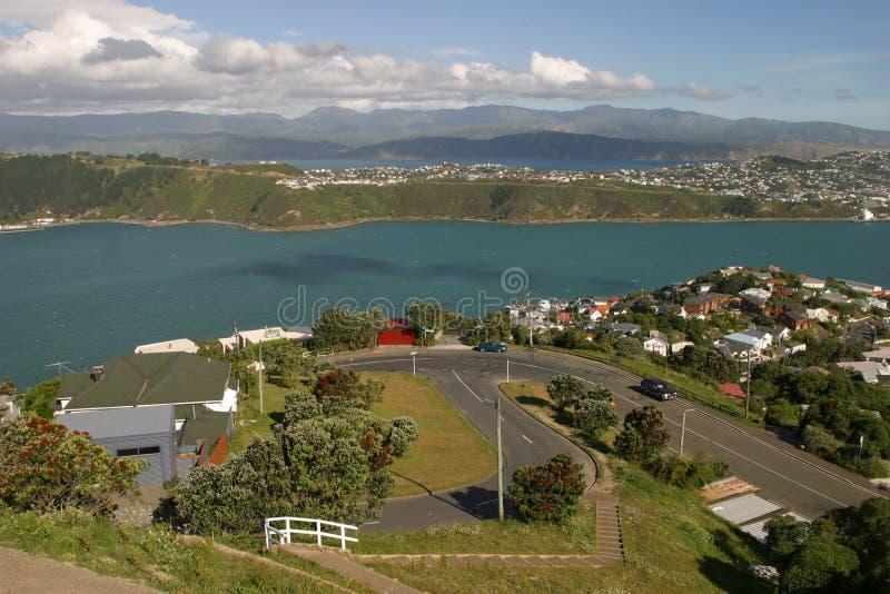 Bahía de Evans. Vecindad de Wellington foto de archivo libre de regalías