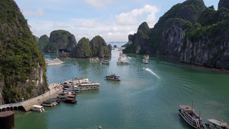 Bahía de Halong foto de archivo