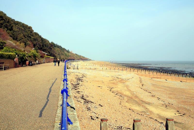 Bahía de Holywell, Eastbourne, Reino Unido fotos de archivo libres de regalías