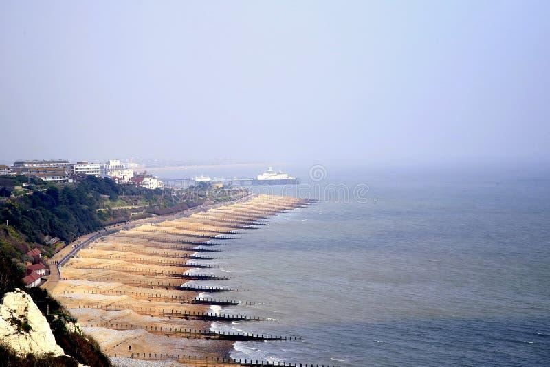 Bahía de Holywell, Eastbourne, Reino Unido foto de archivo libre de regalías