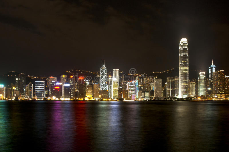 Bahía de Hong-Kong fotografía de archivo