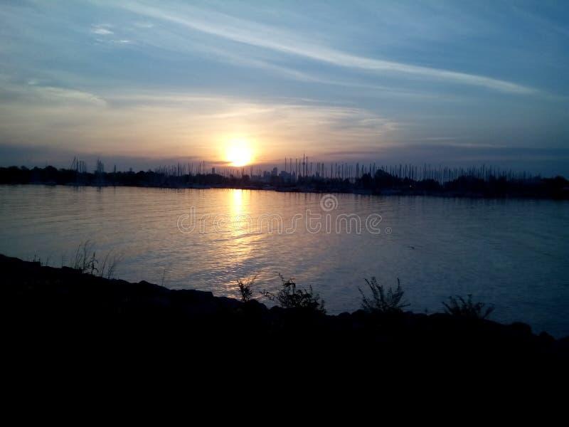 Bahía de Humber en la salida del sol imágenes de archivo libres de regalías
