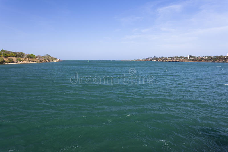 Bahía de Kilindini en Mombasa, Kenia imagen de archivo