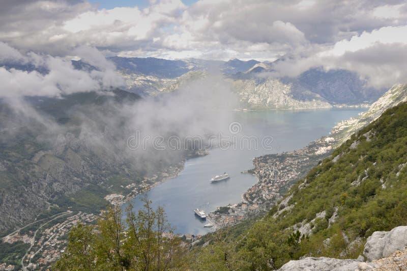 Bahía de Kotor, Montenegro imagenes de archivo