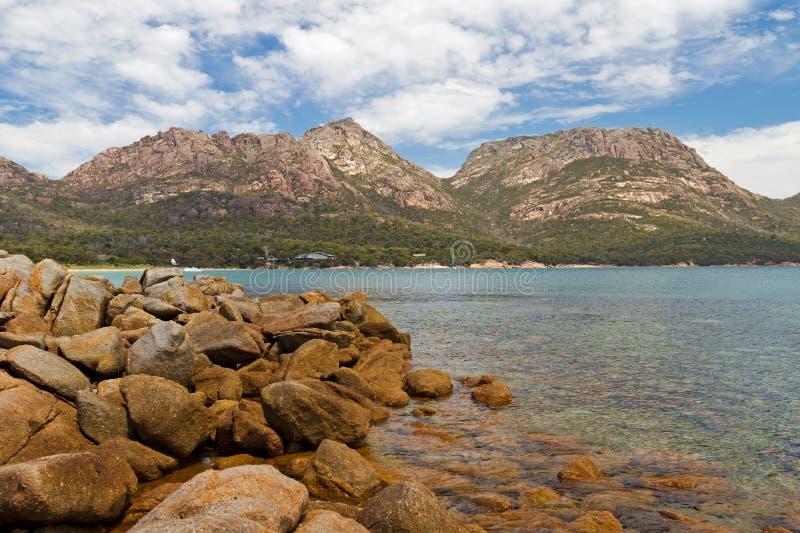 Bahía de la ostra en Tasmania fotografía de archivo libre de regalías